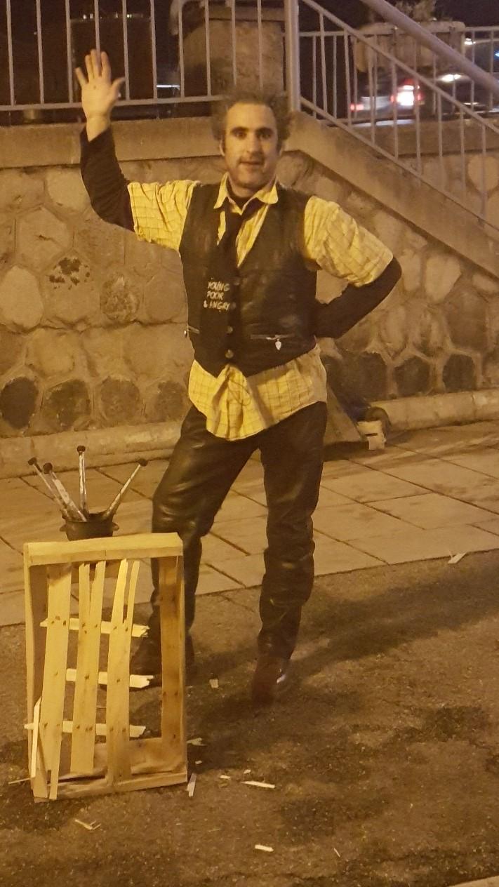 jonglerie enflamée & clown spectacle de feu azimuth